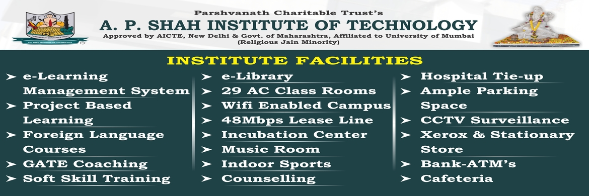 Infrastructural & Academic  Facilities @ APSIT